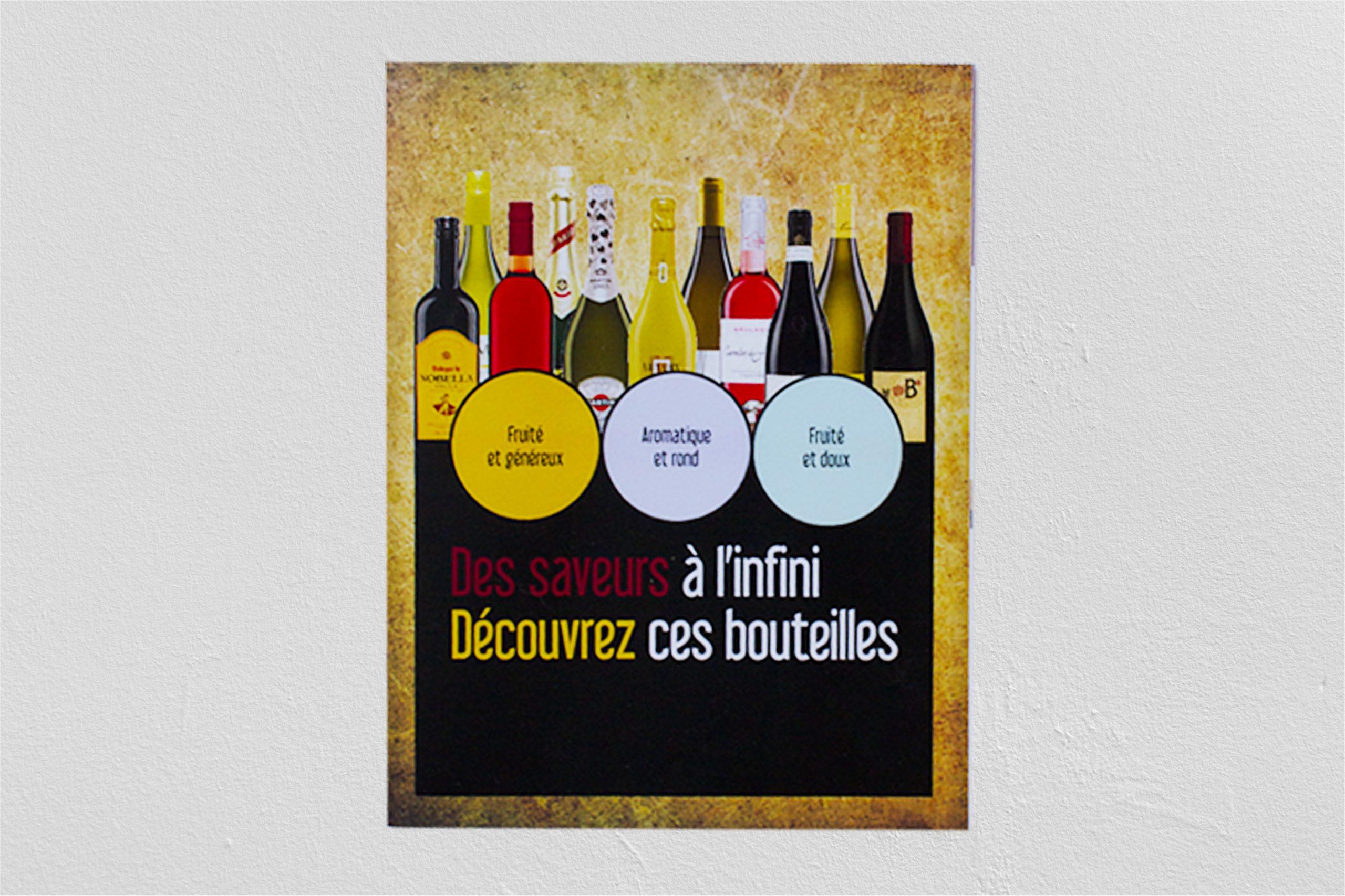 Couverture d'un catalogue de vente d'alcool