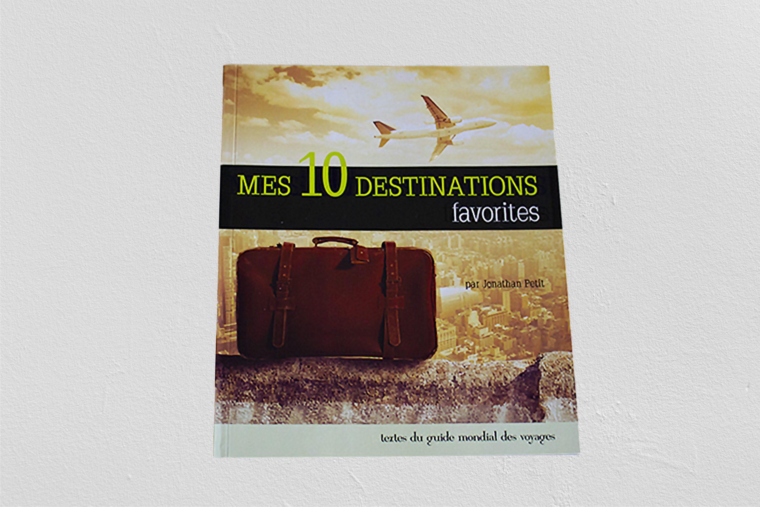 Couverture d'un livre de destination de voyages