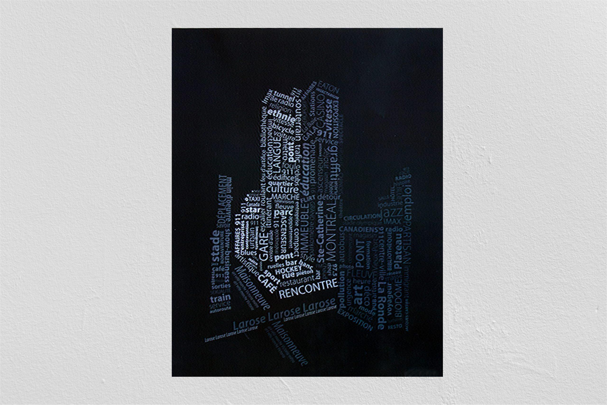 Typographie d'une ville éclairée