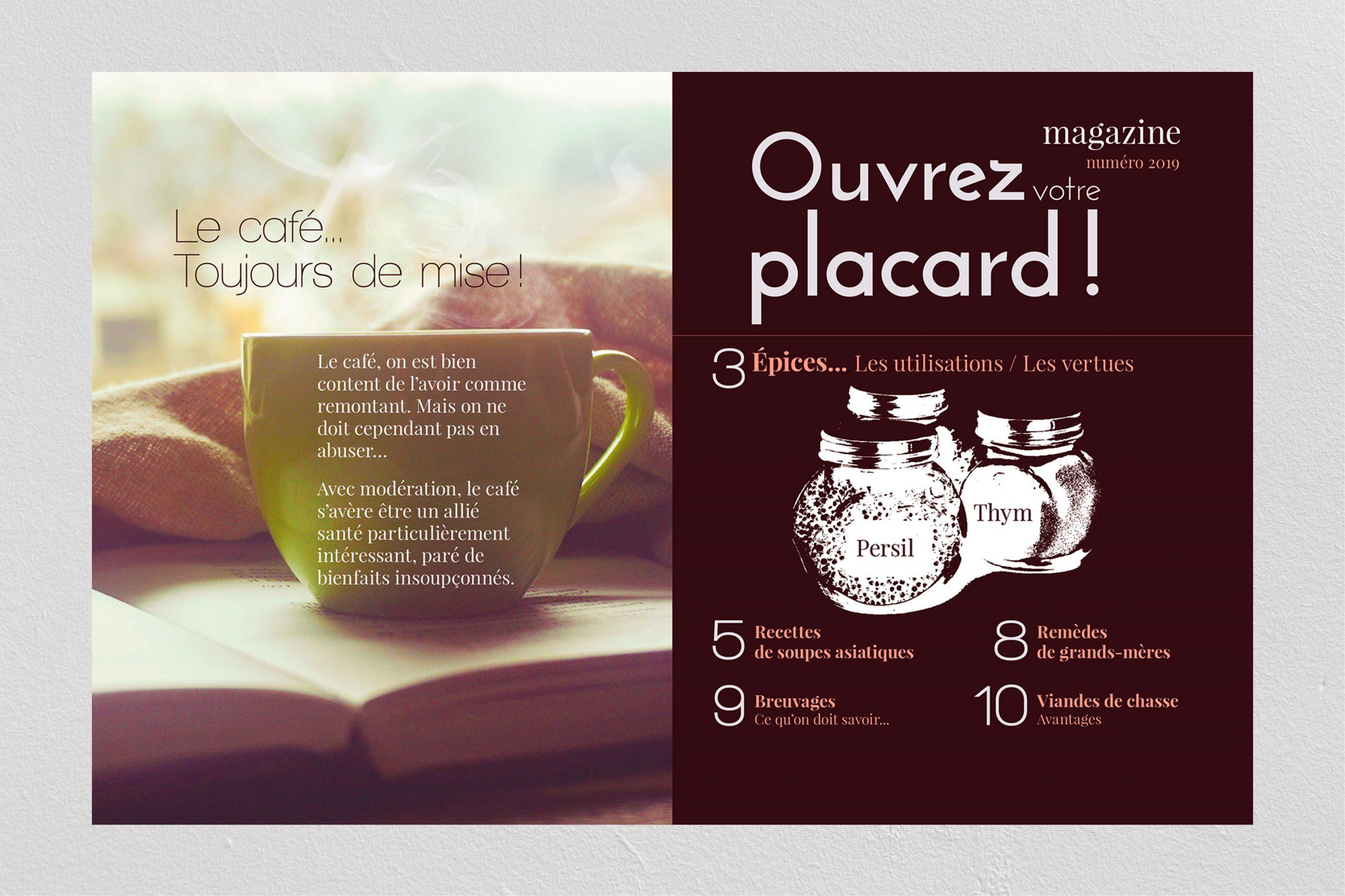 Couverture d'un magazine sur le café