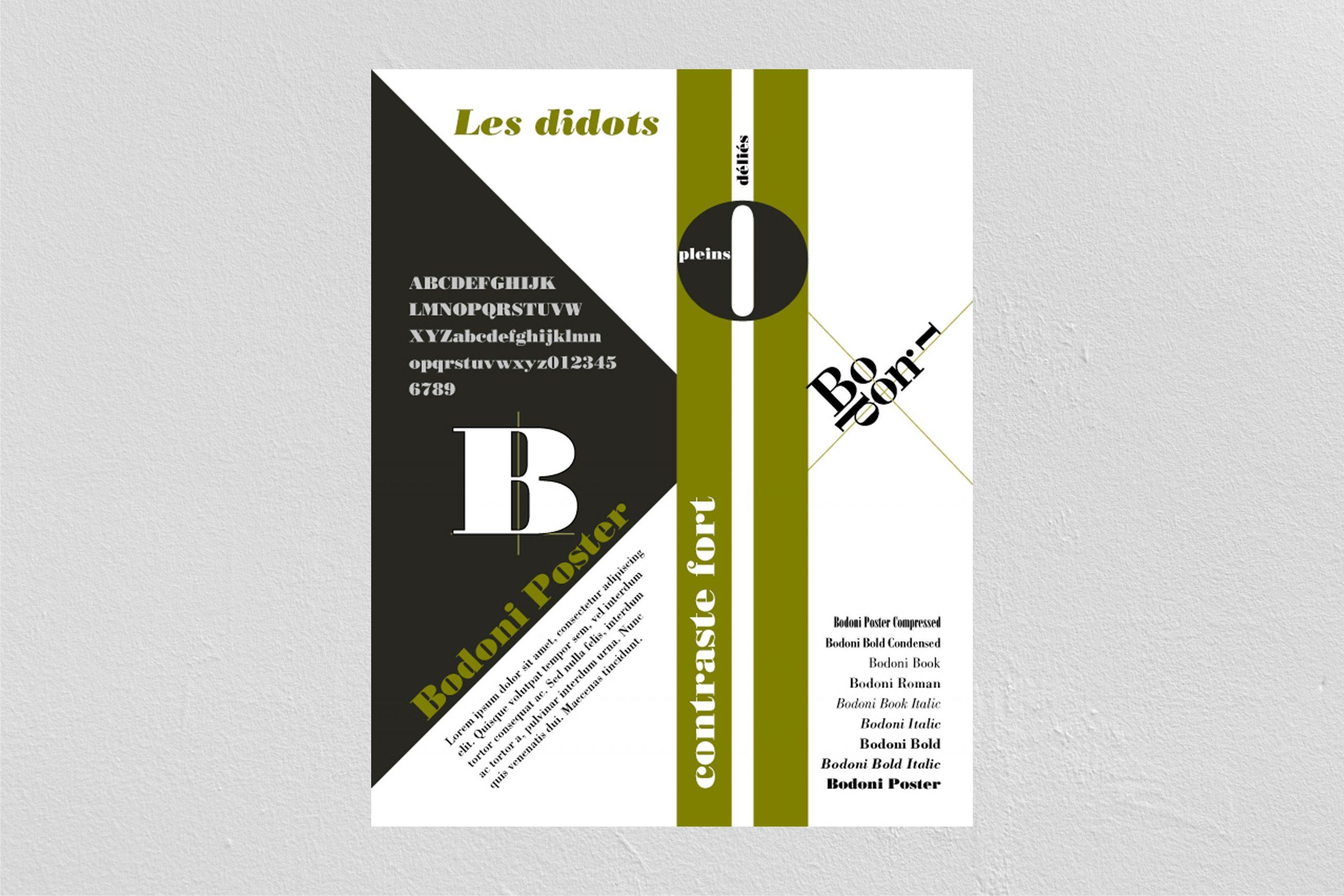 Didots - police Bodoni