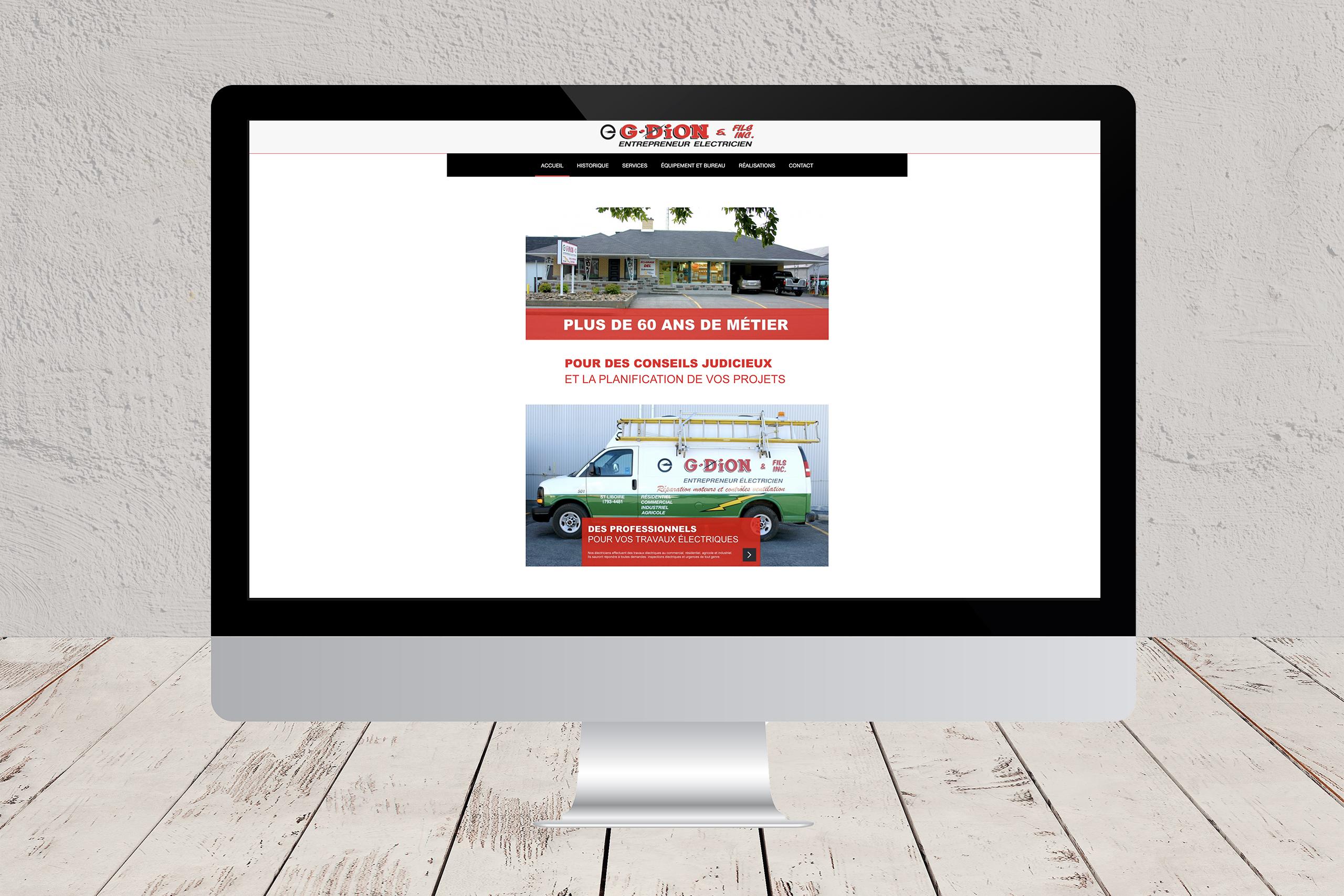 Site Web de Dion Électrique